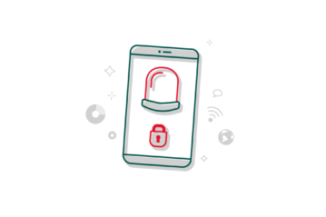Illustration eines Smartphones mit Alarmanlagen-App